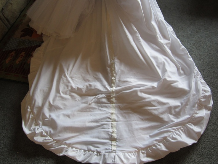 How To Bustle A Wedding Gown With Ring Tape (used To Make