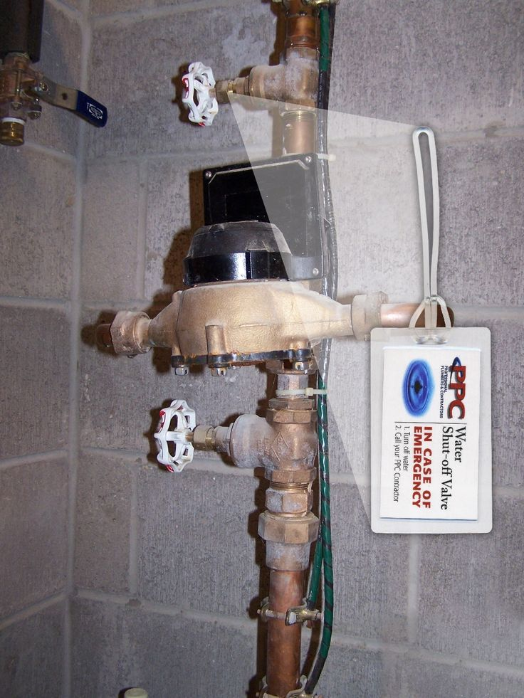 Find out where your main water valve is for your house