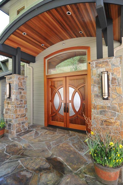 Craftsman Front Door With Custom Double Front Entry Doors Model 695 B Solid Brazilian Mahogany