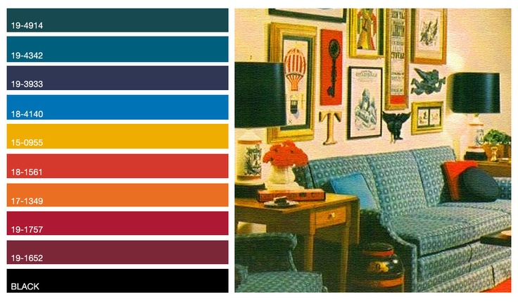 60's Dark Jewel Tone Color Palette For the Home