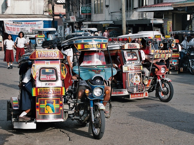 Philippines Tricycles are designed as a cargo sidecar