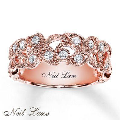 ½ ct tw Diamond Ring Round-Cut 14K Rose Gold