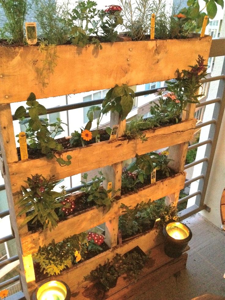 DIY pallet herb garden woodworking projects Pinterest