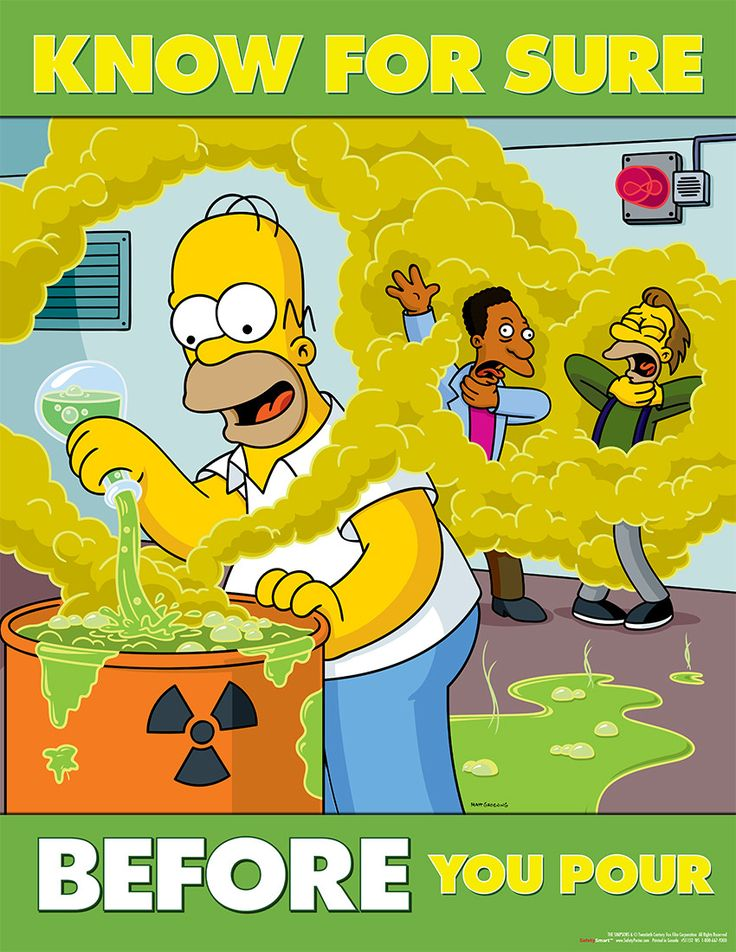 Simpson's Safety Posters Poster, Safety posters and