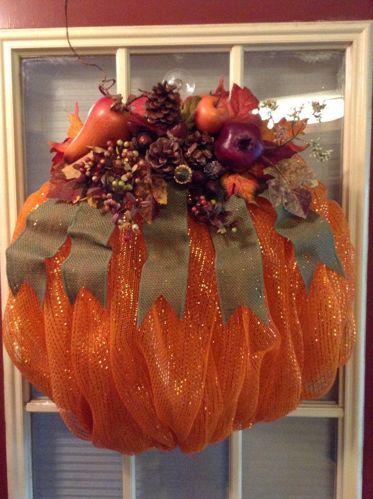 Best 25 Deco Mesh Pumpkin Ideas On Pinterest Pumpkin
