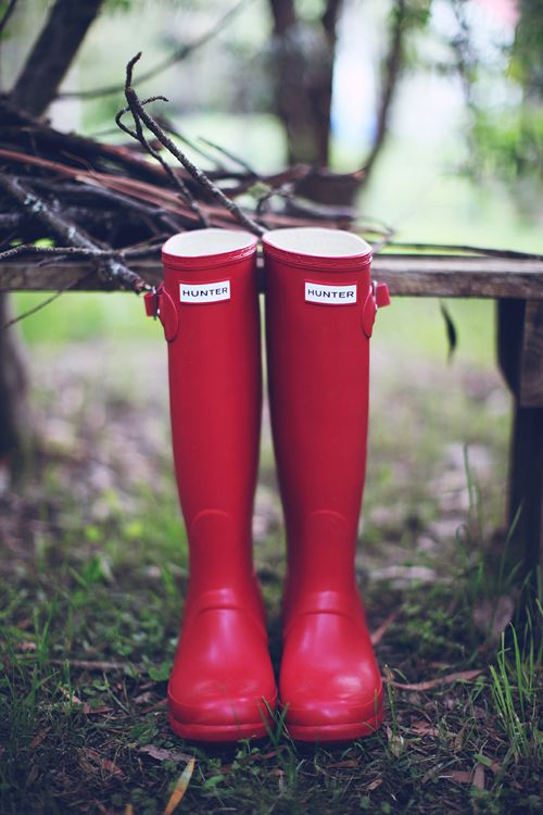 Red Hunter Wellies for autumn.: