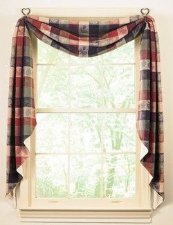 Different Ways To Hang Swags Country Homespun Fishtail Curtain Swags Swags Pinterest Country