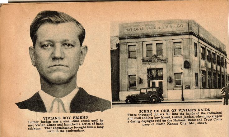 Luther jordan and north kcmo bank jordan was arrested with