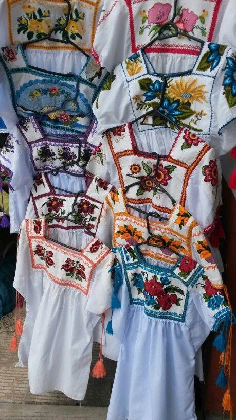 Lindas Blusas Bordadas Por Las Manos Indgenas De Las