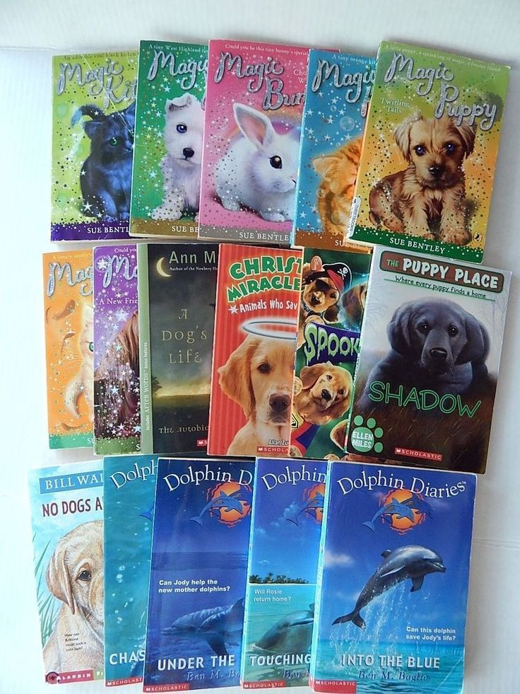 Lot 16 Animal Chapter Books Dolphin Diaries Magic Puppy