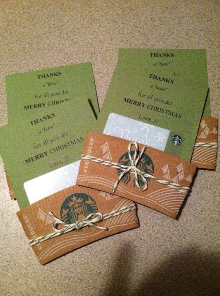 Starbucks Gift Cards Gift Ideas Pinterest Starbucks