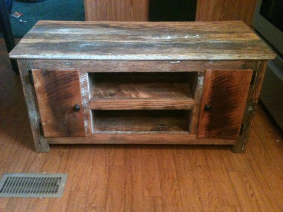 Barn Wood Tv Stand Made From Reclaimed Barn Wood Media
