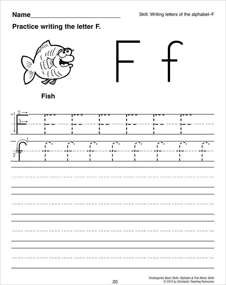 Letter F Tracing Worksheet Preschool Worksheets & Crafts