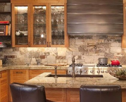 Create A Rustic Natural Backsplash With Stone Tiles Choose From A Variety Of Options To Match