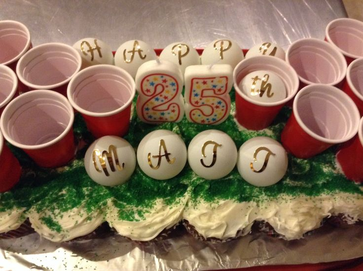 Beer Pong Cupcake Cakes And The Boyfriend On Pinterest