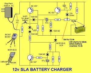 Solar Charge Controller Circuit Diagram | The LED flashes