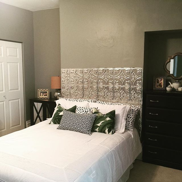 Aluminum Ceiling Tile Headboard Is Complete House Diy