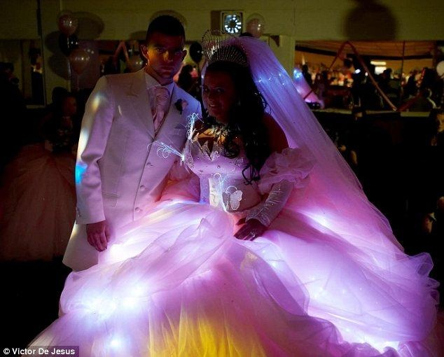 LED Wedding Dress, So Neat-O. It'd Take A Lot Of Work, But