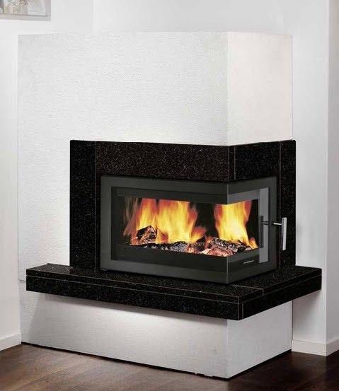 Right Corner Wood Burning Fireplace Google Search
