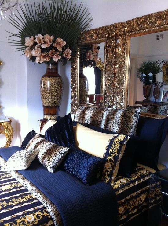 Navy Blue Gold White Bedroom Bedroom Pinterest Master Bedrooms Blue Gold And Navy Blue