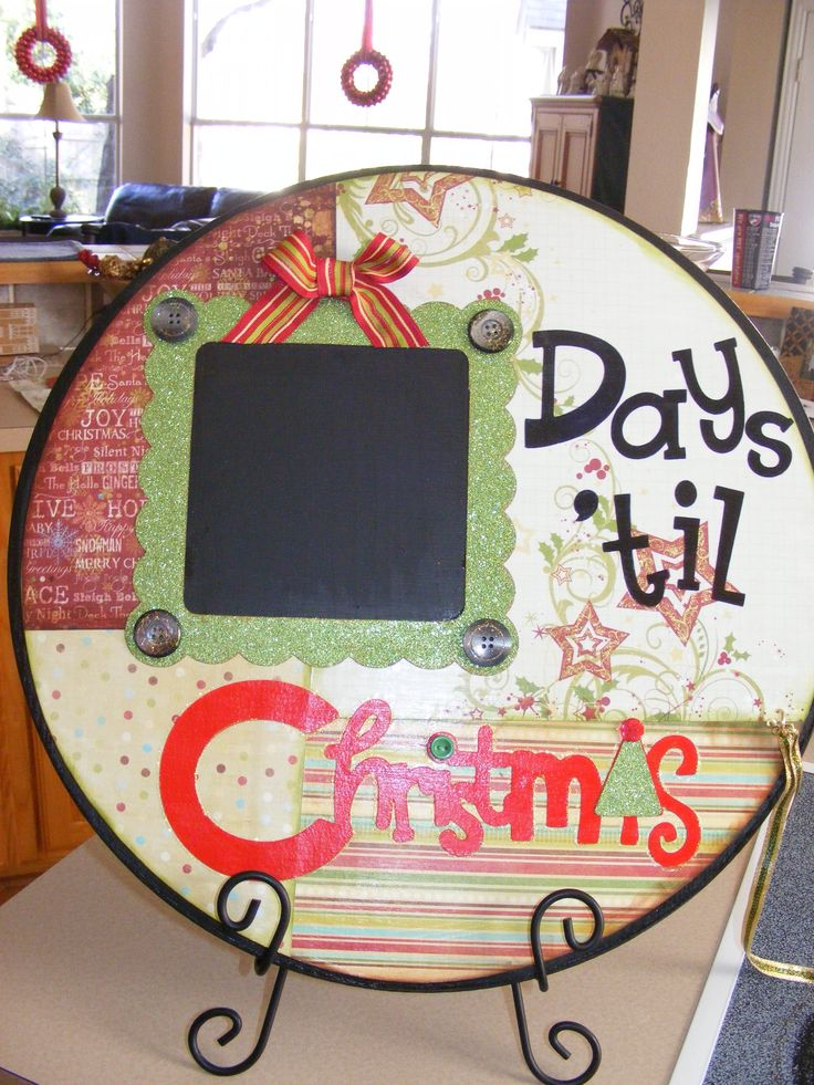Christmas Count Down. Made this at The Little Blue House