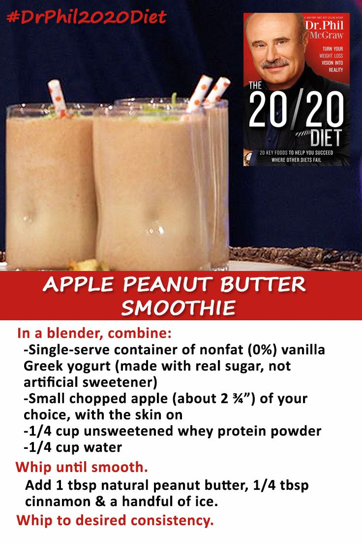A healthy option for breakfast on the go! DrPhil2020Diet
