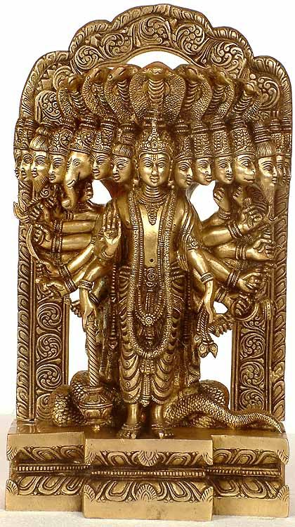 Lord Vishnu in his Cosmic Magnification Art Pinterest