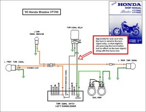 1988 honda shadow vt1100 turning signal wiring diagram