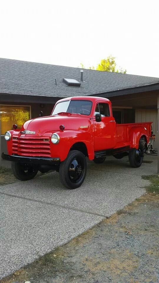 1952 Chevy 1 ton 9 'bed Coleman 4x4 53 Chevy Truck