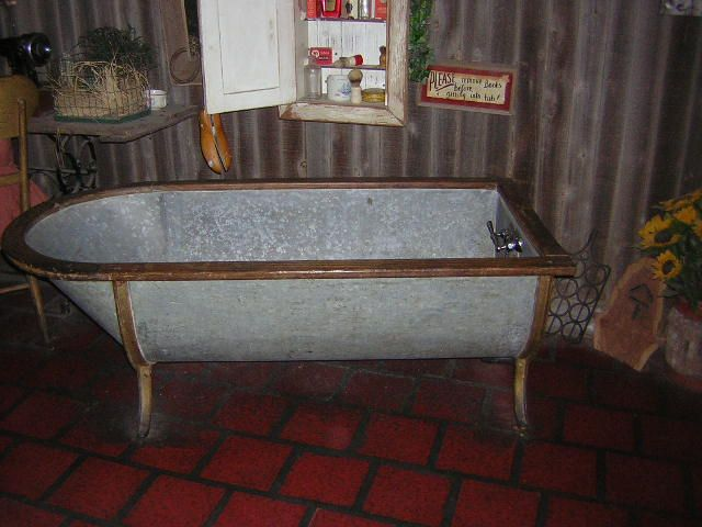 Galvanized Horse Trough Shower Old Metal Bathtub Bathrooms Pinterest Horse Trough
