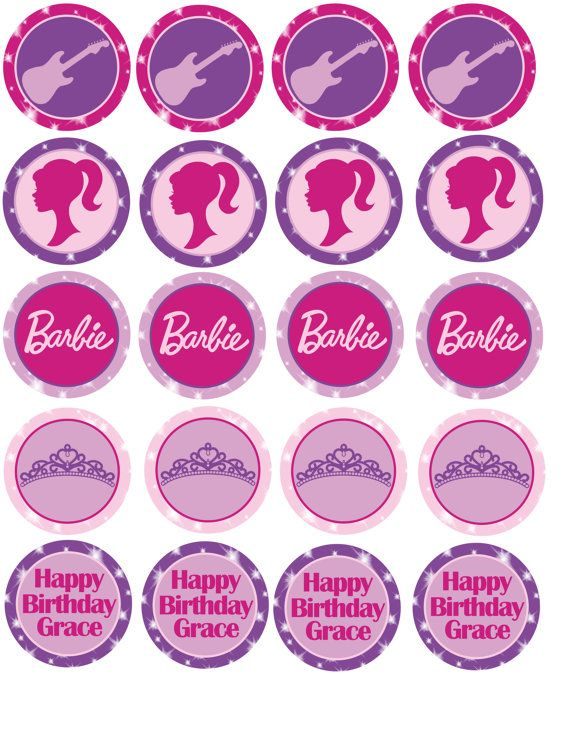 Cupcake Toppers Barbie Princess Amp The Popstar Party