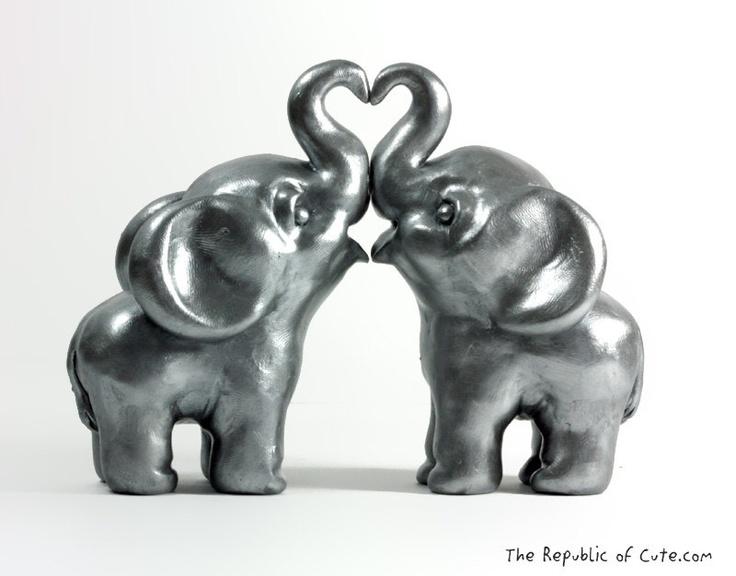 Silver Elephant Wedding Cak