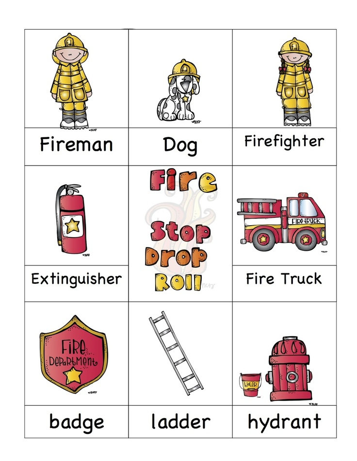 Fire Safety Printable. Also has great Halloween stuff up