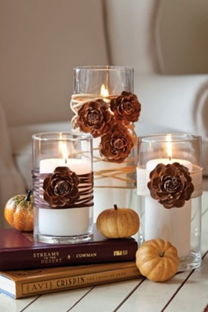 31 Days of Fall Inspiration: Decorating for Fall with Pinecones: 31 Days of Fall Inspiration: Decorating for Fall with Pinecones