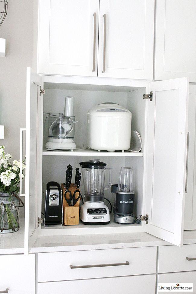 Kitchen Cabinet Organizers Appliance Storage Ideas