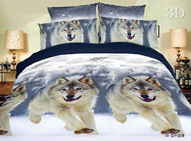 Wolf Bedding Sets Free Shipping Snow Wolf Comforter