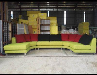 Pabrik Sofa Informa Melandas Courts Davinci Genuine Leather 08119354999