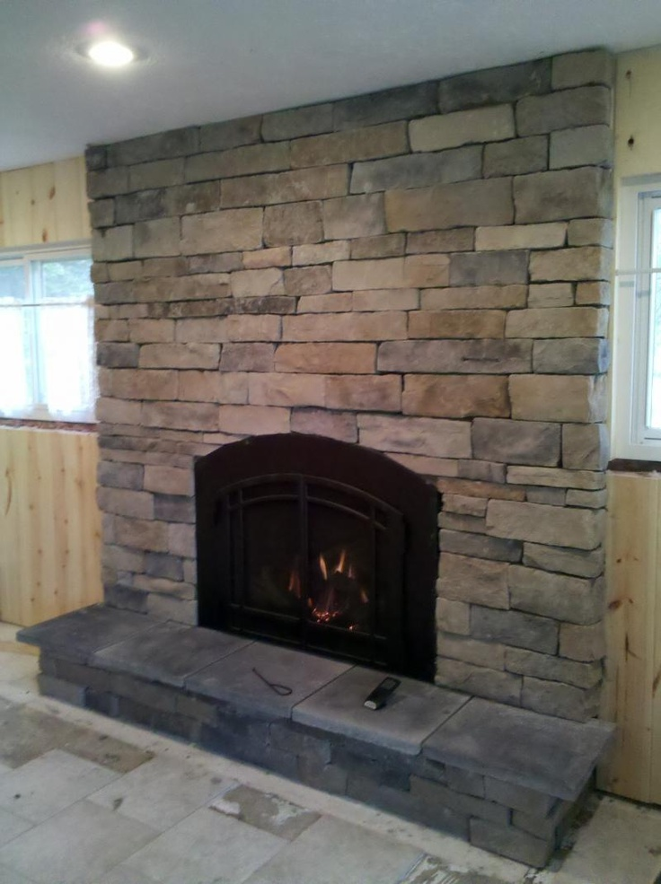 Stone Front Fireplace Fireplace Fronts Pinterest