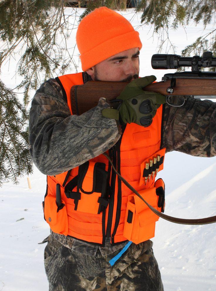 Blaze Orange MOLLE Vest The