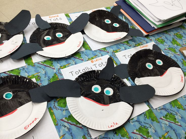 & Orca Whale Paper Plate Craft