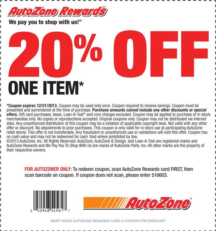 Autozone coupon Printable Coupons Pinterest
