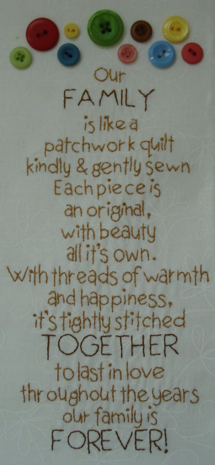 Our Family is like a patchwork quilt From Lori Holt's