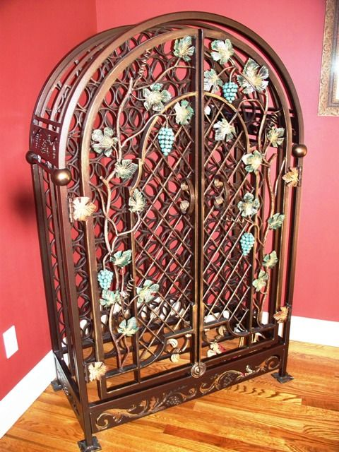 Wrought Iron Wine Rack WROUGHT IRON SPECIALTY PRODUCTS