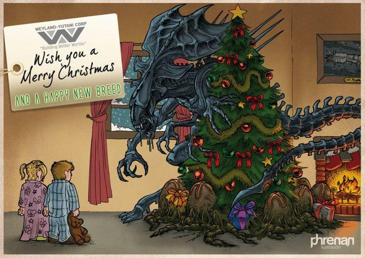 Weyland Yutani Corp Wishes You A Merry Christmas Alien