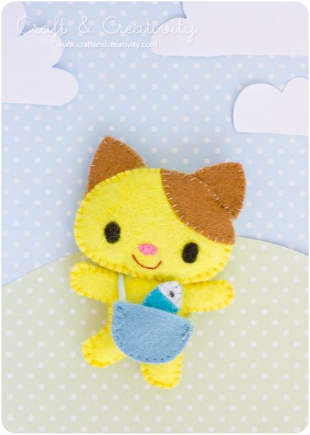 Animal Cat Felt Patterns Printable