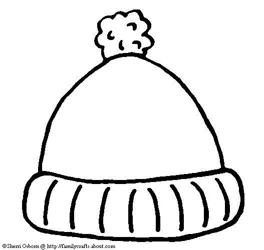 kindergarten printable hat templates go to the celebrate winter fun