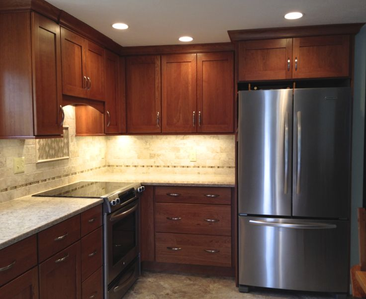 Omega Morris Cherry Cinnamon Cabinetry With Quasar