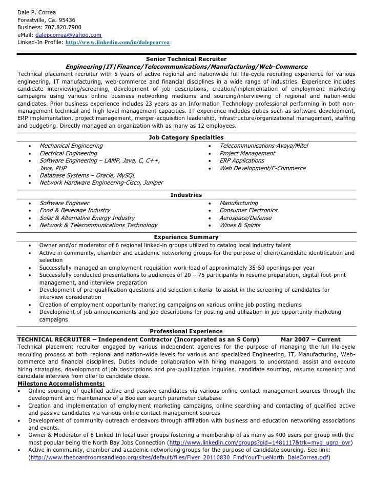resume for job recruiter abij