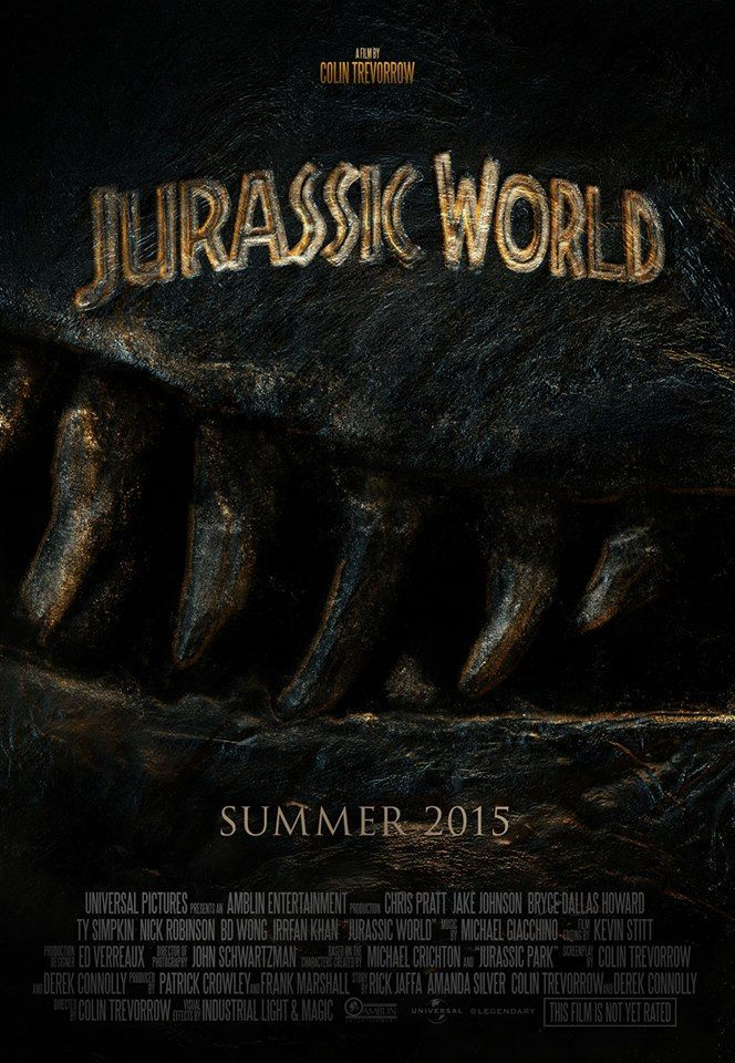 New Poster for Jurassic World Coming to theaters June 2015