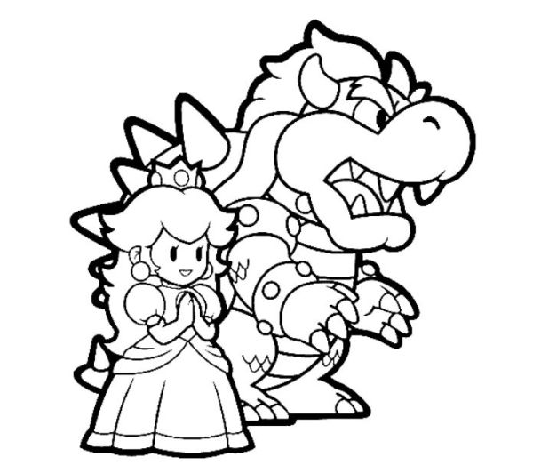 bowser coloring page # 38